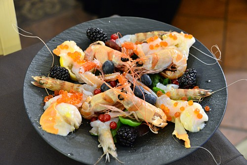 Seafood with shrimps, fish starter, Sicily, Italy
