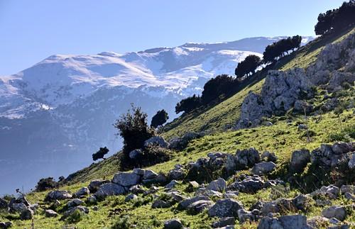 Mountain landscape at Isnello in La Madonie near Cefalu, Sicily, Italy