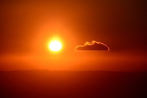 Sunset at Etna volcano, south side, east coast, Sicily, Italy