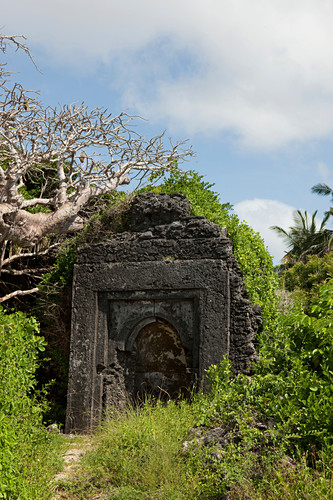 Ruins in the grounds of Temple Point Resort, Mida Creek, Watamu, Malindi, Kenya