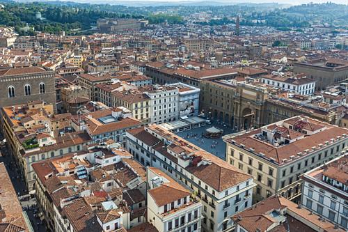 Blick über die Stadt Florenz in Italien