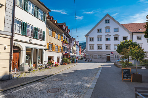 Bergmannstraße in Bregenz, Vorarlberg, Österreich
