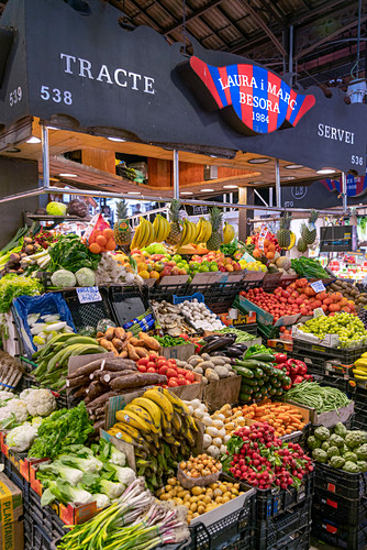 Boqueria Markt in Barcelona, Obst und Gemüse, Spanien