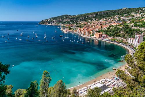 Villefranche sur Mer, Badebucht, Cote d'Azur, Frankreich