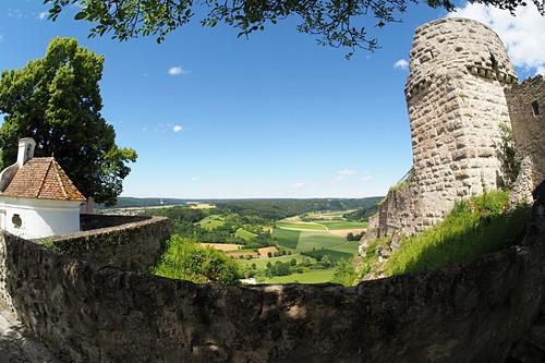 Burg über Arnsberg im Altmühltal, Landschaft, Blick, Oberbayern, Bayern, Deutschland