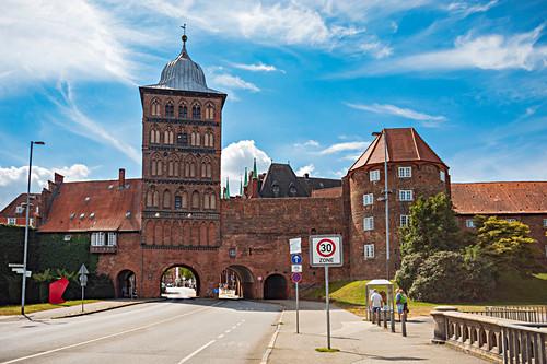 Burgtor in Lübeck, Schleswig-Holstein, Deutschland