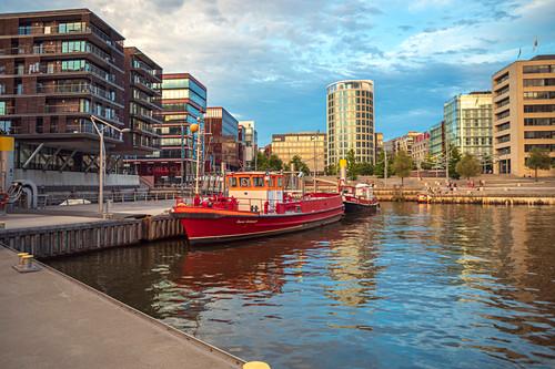 Sandtorhafen im Hamburger Hafen, Hamburg, Deutschland
