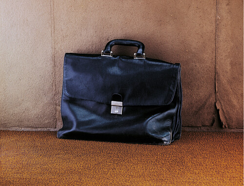 Briefcase against a wall, Business, Work