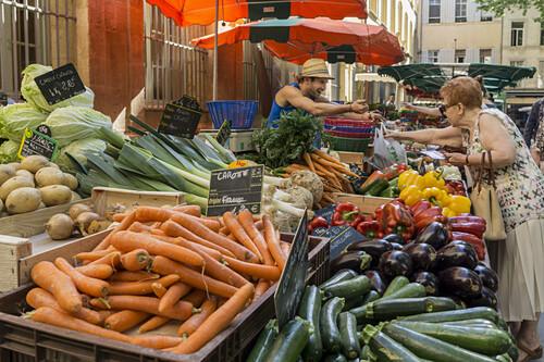 Wochenmarkt Place Richelme,  Aix en Provence,  Frankreich