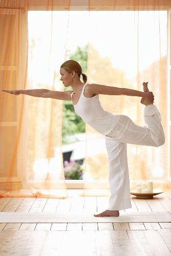 Yoga posture: Natarajasana (Dancer Pose)