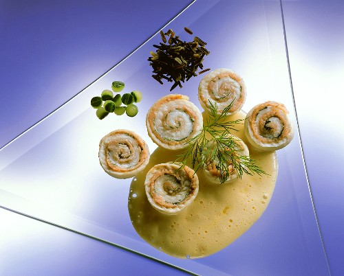 Sole and smoked salmon roulade