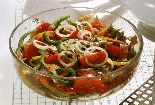 Hungarian Salad with Salami