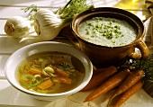 Zwei leichte Suppen im Sommer
