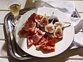 Prosciutto e fichi (Figs with raw ham, Italy)
