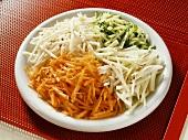 Raw vegetable platter