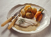 Plaice in Dill Cream with Potatoes