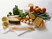 Zutaten für gesunde Ernährung; Fischdiät