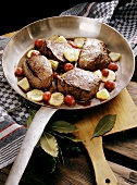 Venison Steaks with exotic Fruit Sauce