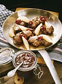 Roasted Venison Cutlets with Pears