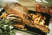 Leg of Lamb with Vegetables