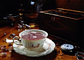 A Steaming Cup Of Tea; Cup and Saucer