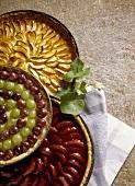 Apple, pear & grape tart