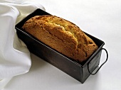 Grandma's butter cake in a loaf tin