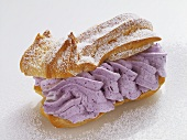 Blueberry Cream Filled Eclair