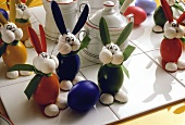 Colorful Easter Bunny Decorations