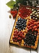 Summery tray-baked cake