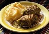 Stuffed Cabbages with Mashed Potatoes