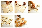 Making puff pastry pinwheels