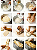 Making bread plait