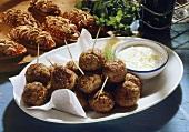 Meatballs and Miniature Pie Shells