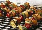 Sausage-Vegetable Skewers