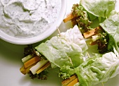 Vegetable Roll with Yogurt Dip