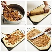 Making bee-sting cake
