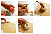 Apple in a robe (in puff pastry)