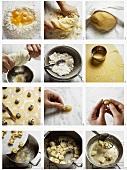Making tortellini, Emilia-Romagna, Italy
