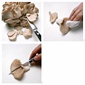 Preparing oyster mushrooms