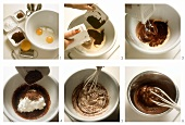 Making chocolate parfait