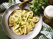 Ravioli with Fresh Basil and Lemon Zest