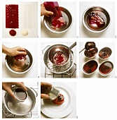 Making berry tartlets with gelatine