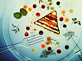 Clear Vegetable Aspic Terrine On Clear Plate