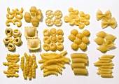 Various types of pasta
