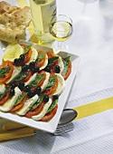 Insalata caprese (tomatoes & mozzarella), Italy