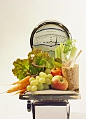 Scale with Fruit & Vegetables