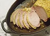 Kassler Rippenspeer with Curry-Herb Crust