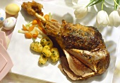 Braised and Sliced Leg of Lamb with Vegetables