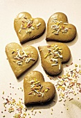 Gingerbread Cookies in the Shape of a Heart
